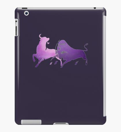 Bull Fight in Lilac iPad Case/Skin