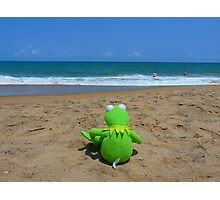 Beach Sea Sea view Water Lonely Frog Photographic Print