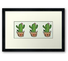 Cute Holiday Cactus Framed Print
