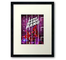 BIGBANG 'BANG BANG BANG' Typography Framed Print