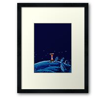 Guybrush went bone hunting! Framed Print