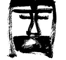 Head of Christ - Black and White - Jenny Meehan by jenny meehan