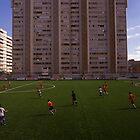 football stadium at Carrer de les Camèlies, Barcelona 2010 by Michel Meijer