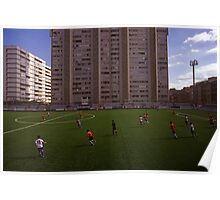 football stadium at Carrer de les Camèlies, Barcelona 2010 Poster