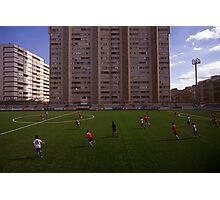 football stadium at Carrer de les Camèlies, Barcelona 2010 Photographic Print