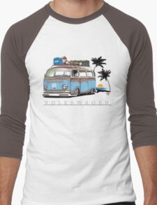 Bay sittin' at the Beach Men's Baseball ¾ T-Shirt
