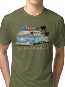 Bay sittin' at the Beach Tri-blend T-Shirt