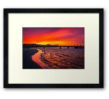 Kalbarri Blood Sky Framed Print