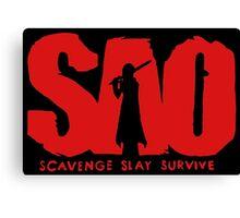 Sword ar - SAO Scavage Slay Survive Canvas Print