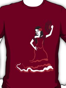 spanish sugar skull dancer T-Shirt