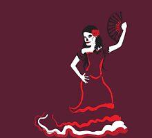 spanish sugar skull dancer Unisex T-Shirt