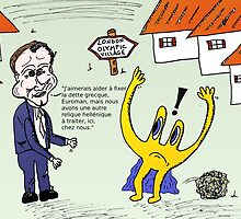 Euroman et David Cameron en caricature by Binary-Options