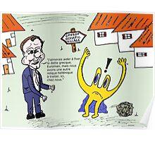 Euroman et David Cameron en caricature Poster