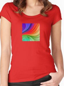 Abstract Rainbow Background Women's Fitted Scoop T-Shirt