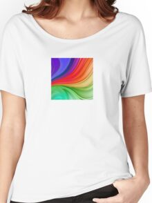 Abstract Rainbow Background Women's Relaxed Fit T-Shirt