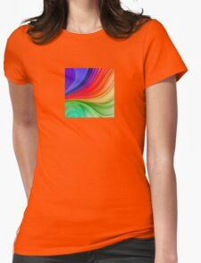 Abstract Rainbow Background Womens Fitted T-Shirt