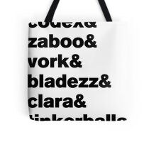 Knights of Good Sticker Tote Bag