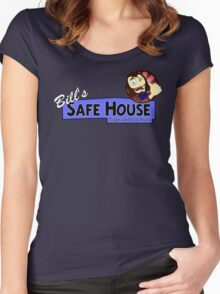 Bill's Safe House - THE LAST OF US Women's Fitted Scoop T-Shirt