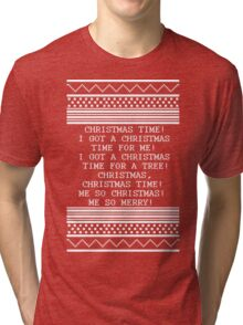 Britta Christmas sweater Quote Tri-blend T-Shirt