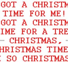 Britta Christmas sweater Quote Sticker
