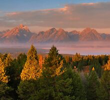 Grand Teton Morning by Stephen Vecchiotti