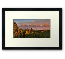 Grand Teton Morning Framed Print