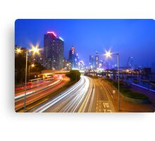Traffic in Hong Kong downtown area Canvas Print