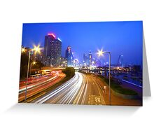 Traffic in Hong Kong downtown area Greeting Card