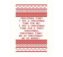 Britta Christmas sweater Quote Art Print