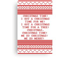 Britta Christmas sweater Quote Canvas Print