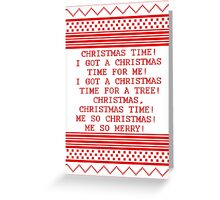 Britta Christmas sweater Quote Greeting Card