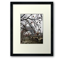 The Eiffel Tower in the Mist Framed Print