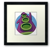Take on the world! Framed Print