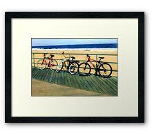Boardwalk Bicycles Framed Print