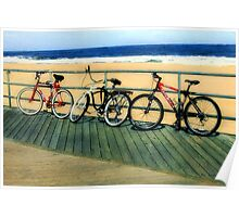 Boardwalk Bicycles Poster