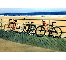 Boardwalk Bicycles Photographic Print