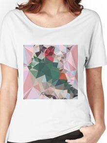 Charm Pink Abstract Low Polygon Background Women's Relaxed Fit T-Shirt