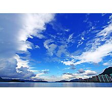 Coastal landscape over the ocean in Hong Kong Photographic Print
