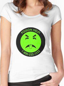 Retro Mr.Yuk poison Women's Fitted Scoop T-Shirt