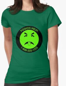 Retro Mr.Yuk poison Womens Fitted T-Shirt
