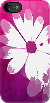 Daisy Burst Retro in Magenta by Patricia L. Walker