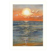 Sunset over Sauble Beach Art Print