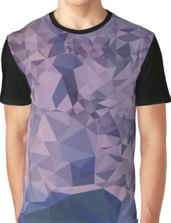 Cool Grey Blue Orange Abstract Low Polygon Background Graphic T-Shirt