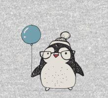 Christmas Penguin Balloon One Piece - Long Sleeve