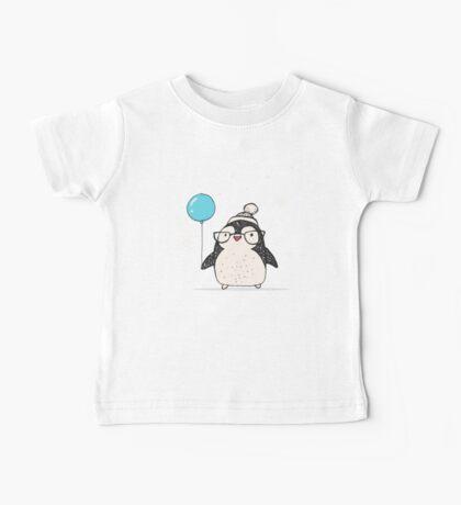 Christmas Penguin Balloon Baby Tee