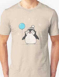 Christmas Penguin Balloon Unisex T-Shirt
