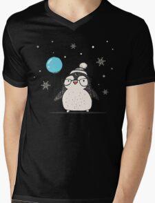 Christmas Penguin Balloon Mens V-Neck T-Shirt
