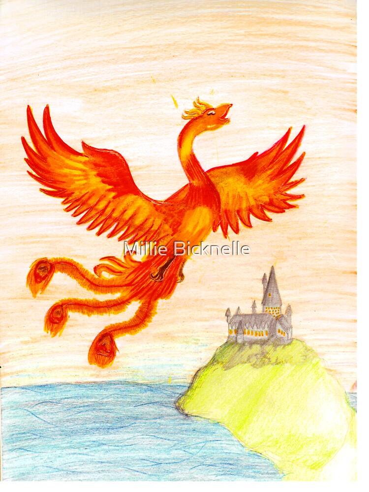Fawkes The Phoenix by LittleMizMagic