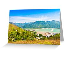 Tai O landscape from mountains in Hong Kong Greeting Card
