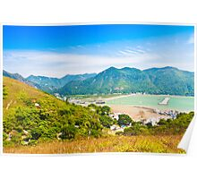 Tai O landscape from mountains in Hong Kong Poster